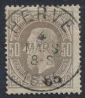 "émission 1869 - N°35 Obl Simple Cercle ""Herve"" - 1869-1883 Leopold II."
