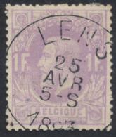 "émission 1869 - N°36 Obl Simple Cercle ""Lens"". TB - 1869-1883 Leopold II."