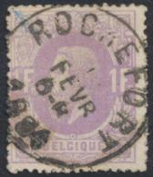"émission 1869 - N°36 Obl Simple Cercle ""Rochefort"" - 1869-1883 Leopold II."