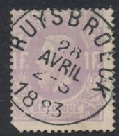 """émission 1869 - N°36 Obl Simple Cercle """"Ruysbroeck"""" TB / Un Coin Arrondi - 1869-1883 Leopold II."""