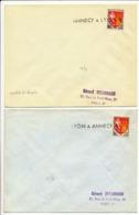 HAUTES SAVOIE ET RHONE ENV X 2 LOT CONVOYEUR LINEAIRE LYON A ANNECY B ET LINEAIRE ANNECY A LYON B - 1961-....