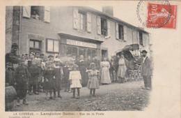19 ( Corrèze ) LAMAZIERE-BASSE - Rue De La Poste  - Timbrée 1909 - Francia