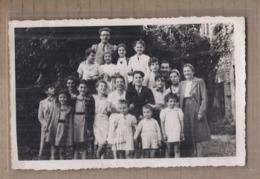 CPA PHOTO 30 - NIMES - TB PLAN Groupe De Personnes Eglise Libre De Nîmes Juillet 1946 PROSTESTANTISME RELIGION - Nîmes
