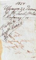 Usingen; 3 Rechnungen Von 1854 - Historische Dokumente