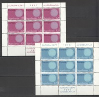V239 1970 YUGOSLAVIA EUROPA CEPT ART PAINTINGS 2KB MNH - Europa-CEPT