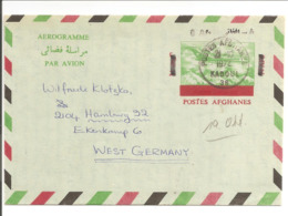 Afghanes Lettre Aerogramme VERRY CLEAR POSTMARK 21.10.1972 KABOUL>Deutschland - Afghanistan