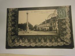 Argentan Place Des Trois Croix,Orne 61,voyagée 1921,BE Pliure Légère En Bas Gauche - Argentan