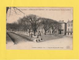 Cpa. Pont-Saint-Esprit.  Les Escaliers Du Cours Du Midi. ( 2 Scans ) - Pont-Saint-Esprit