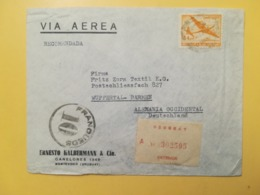 1947 BUSTA INTESTATA URUGUAY STORIA POSTALE BOLLO POSTA AEREA AIR MAIL RACCOMANDATA REGISTERED RARO TIMBRO TAMPON - Uruguay