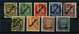 DEUTSCHES REICH 1924 Nr D105-113 Gestempelt (113512) - Dienstpost