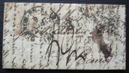 Oléron En Béarn 1835 (Oloron) Marque Espagne Par Oleron , Plusieurs Frappes, Jolie Lettre ! - Poststempel (Briefe)