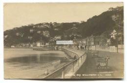 Wellington, New Zealand - Oriental Bay, Promenade - 1922 Real Photo Postcard - New Zealand