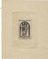 Belgique Epreuve Timbre Orval Vers 1950 - Essais & Réimpressions