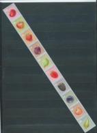 Timbres Rouleaux Par 10 Rolzegels Fruits Petite Dentelure Kleine Tanding VF 9,2 € - Rouleaux