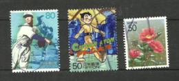 Japon N°2782, 2824, 2837 Cote 3.30 Euros - 1989-... Emperador Akihito (Era Heisei)