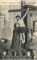 WAYS  Intérieur De L' église. Statue De Ste Lutgarde. - Genappe