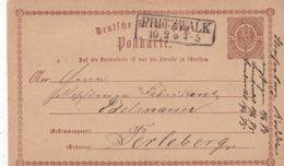 ALLEMAGNE 1875   ENTIER POSTAL/GANZSACHE/POSTAL STATIONERY  CARTE DE PINTZWALK - Briefe U. Dokumente
