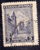 CZECHOSLOVAKIA CESKOSLOVENSKO CECOSLOVACCHIA 1929 OLD CITY SQUARE PARAGUE PRAHA PRAGA 5k USED USATO OBLITERE' - Usati