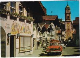 Mittenwald: BORGWARD ISABELLA TS, VW T1-BUS, 1200 KÄFER/COX, FORD TAUNUS 12M P4 - Obermarkt - PKW