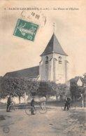 77. N° 104993 .sancy Les Meaux .la Place De L Eglise . - Autres Communes
