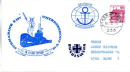 """(UB) BRD Umschlag M. Cachet-Zudruck """"SUBMARINE S197 UNTERSEEBOOT U18"""" EF BRD Mi 1028 TSt 30.4.80 ECKERNFÖRDE 1 - Submarines"""