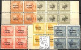 D - [841340]TB//**/Mnh-Ruanda-Urundi 1924 - Tb Lot **/mnh, VLOORS, Bd4 - Ruanda-Urundi