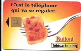 Télécarte BUITONI 5U Le Téléphone Va Se Régaler - Frankreich