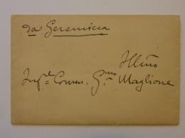 """Lettera Manoscritta Con Busta """"R. ISTITUTO ORIENTALE DI NAPOLI - IL REGIO COMMISSARIO"""" Napoli 6 Giugno 1928 - Manoscritti"""