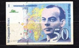 BANKNOTES-FRANCE-50-SEE-SCAN-CIRCULATED - 1992-2000 Laatste Reeks