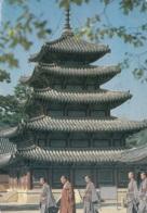 Corea Del Sud. Buddhist Monks At The Palsang-jeon Pavillon At Beobju-sa Temple - Corea Del Sud
