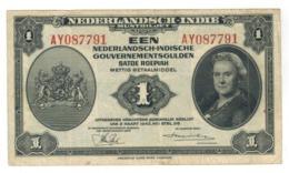 Netherlands Indies, 1 Gulden,  1943, VF. - Indes Neerlandesas