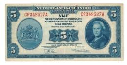 Netherlands Indies, 5 Gulden,  1943, VF+. - Indie Olandesi