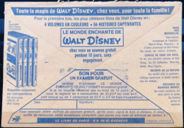 FRANCE Enveloppe CCP De La POSTE Avec PUBLICITE Le Monde Enchanté De Walt Disney - Comics