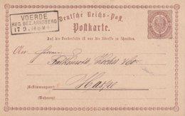 ALLEMAGNE 1874   ENTIER POSTAL/GANZSACHE/POSTAL STATIONERY  CARTE DE VOERDE - Deutschland