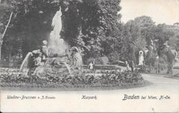 Baden Bei Wien : Undine - Brunnen - Kurpark. (Voir Commentaires) - Autres