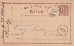 ALLEMAGNE 1874   ENTIER POSTAL/GANZSACHE/POSTAL STATIONERY  CARTE DE BRUEL - Deutschland
