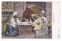 Egypte Déjeuner Arabe En Famille C. Zangaki Photographe VOIR DOS N°5634 - Zonder Classificatie
