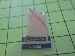 410e Pin's Pins / Beau Et Rare / THEME BATEAUX / VOILIER VOILE AVIRON CANCALE - Boten