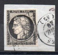 YT N° 3 Sur Fragment - Cote: 65,00 € - 1849-1850 Ceres