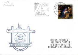"""(UB) BRD Umschlag M. Cachet-Zudruck """"3. UBOOTGESCHWADER U17"""" EF BRD Mi 2227 TSt 23.12.2001 BRIEFZENTRUM - Submarines"""
