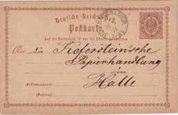 ALLEMAGNE 1874   ENTIER POSTAL/GANZSACHE/POSTAL STATIONERY  CARTE DE MÜHLHAUSEN - Deutschland