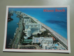 ETATS UNIS FL FLORIDA MIAMI BEACH COLLINS AVENUE IT IS SAID THAT OVER 20% OF THE HOTELS IN FLORIDA ARE ON THIS ISLAND - Miami Beach