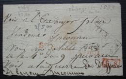 Déboursé (maison Du Roi ?) Et Plusieurs Cachets Sur Arrière De Document De 1833, Voir Photos ! - Marcofilia (sobres)