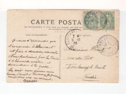 Sur CPA De Notre Dame De Paris CAD Double St Gemme La Plaine Vendée 1905 Sur Paire Blanc. C. Fontenay Le Comte. (2569x) - 1877-1920: Periodo Semi Moderno