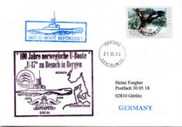 """(UB) BRD Umschlag M.Cachet-Zudruck """"100 Jahre Norwegische U-Boote - U17 Zu Besuch In Bergen"""" EF NORGE TSt 21.5.09 BERGEN - Submarines"""