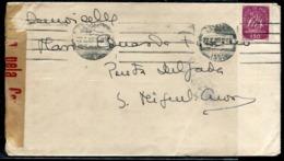 PORTUGAL - N° 634 / LETTRE AVEC O.M. DE LISBOA LE 22/6/1945 POUR LES ACORES AVEC CENSURE - TB - Marcophilie