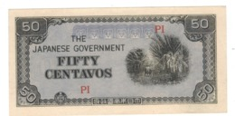 PHILIPPINES, 50 Centavos. Jap. Occup. Unc. Free Economic Ship. To USA - Philippines