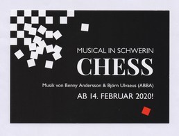 XxAxx Werbepostkarte Musical In SCHWERIN - CHESS 2020 - Advertising