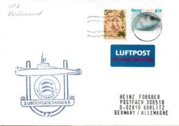 """(UB) BRD Umschlag M.Cachet-Zudruck """"UNTERSEEBOOT U17 Zu Besuch In Kristiansand"""" MiF NORGE TSt 19.11.01 KRISTIANSAND - Submarines"""