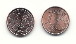 1 Cent, 2018,  Prägestätte (F),  Vz, Bankfrisch - Deutschland